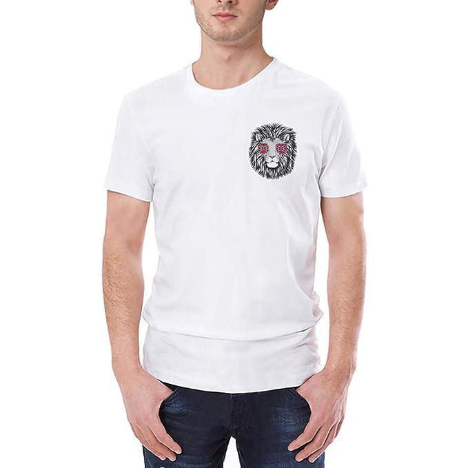 MVPKK Camisetas Manga Corta para Hombre - Camisetas Básicas en Imprimiendo Camiseta para Hombre Talla Grande Ropa Deportiva tee Shirt de Algodón Ocio Cuello ...