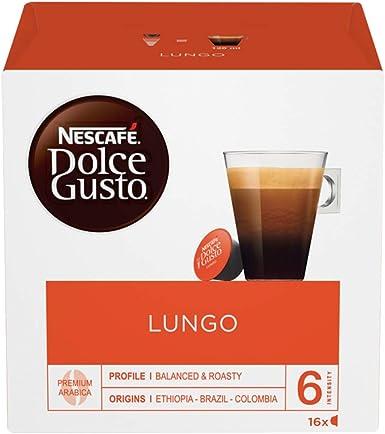 Cafe Dolce gusto CAFFE LUNGO | NESTLE Pack 3 cajas de 16 capsulas ...