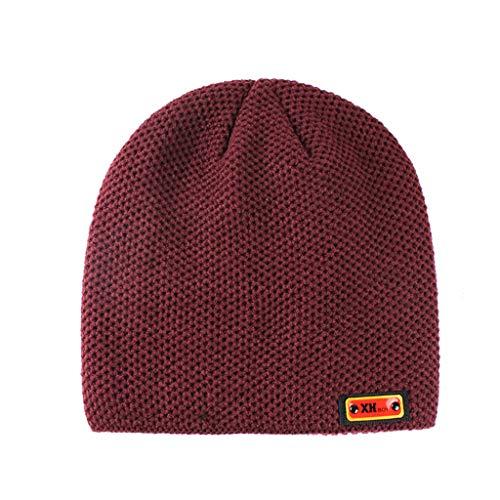 Kolylong Winter Hat Men Women Winter Trendy Warm Oversized Chunky Baggy Stretchy Slouchy Skully Hat