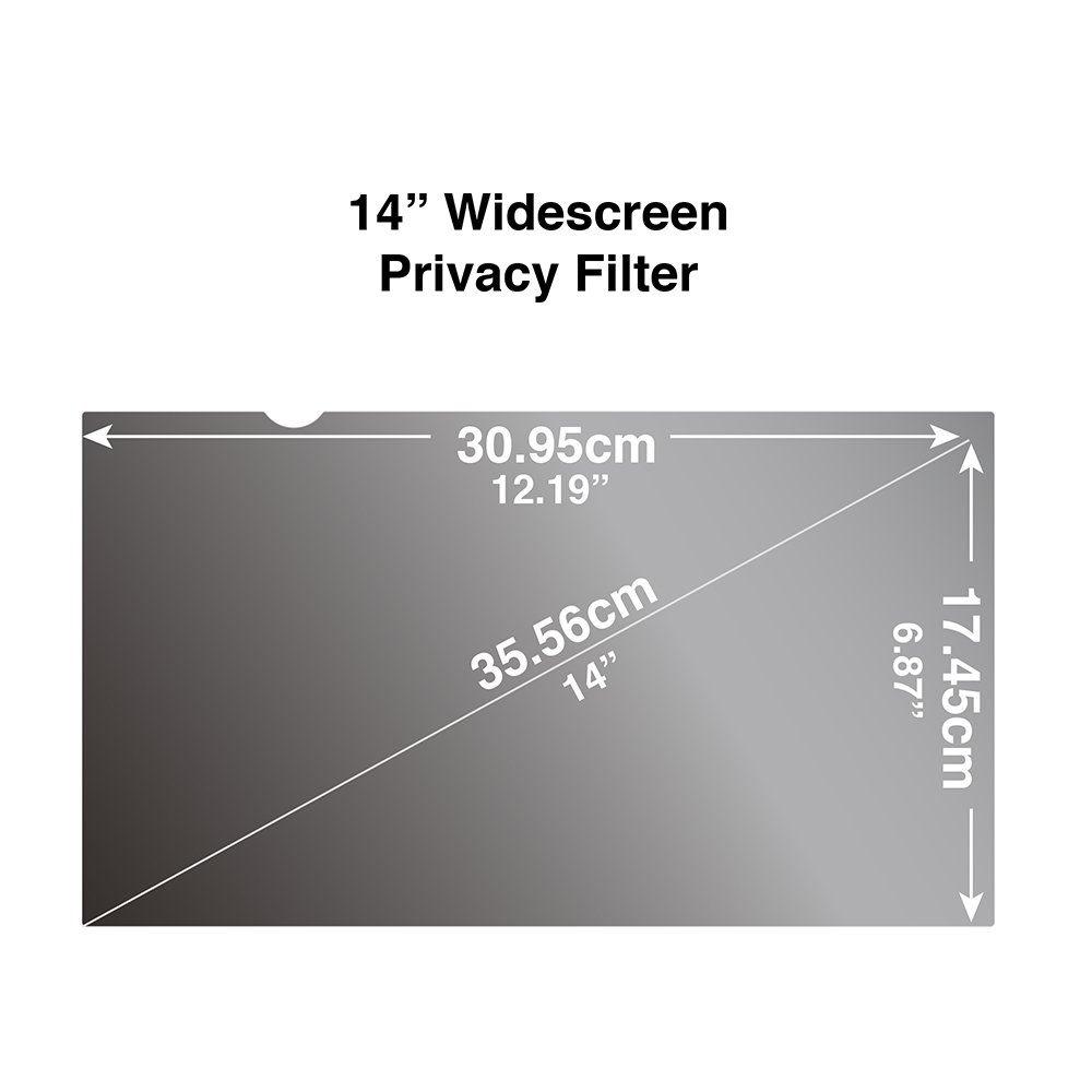 Privacy Filter for Wide Screen Laptop 14 inch 16:9 (12.17'' x 6.85'' / 309 x 174mm) Screen Protectors