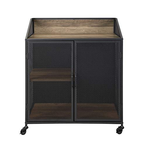 Pemberly Row 33'' Bar Cabinet in Rustic Oak