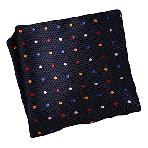 Flairs New York Gentleman's Essentials Weekend Casual Pocket Square Handkerchief (Midnight Blue/Multicolored [Polka Dots]) (Polka Dots Colored Multi)