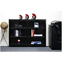 Concepts In Wood Midas Double Wide 6-Shelf Bookcase in Espresso