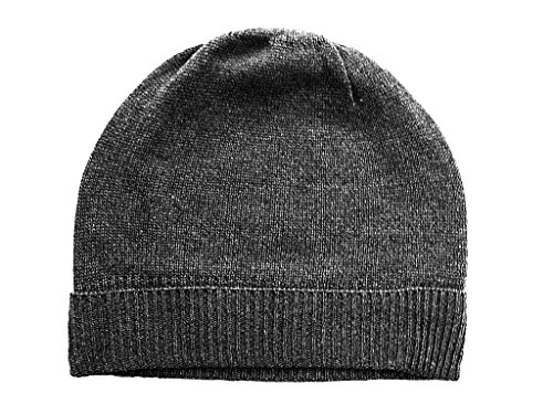 (Feeling Pampered Gray Pure 100% Cashmere Beanie Hat Unisex)