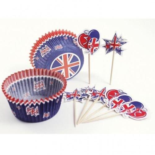 union jack cupcake - 8