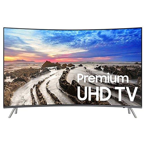 Samsung Electronics UN55MU8500 / UN55MU850D Curved 55-Inch 4K Ultra HD Smart LED TV (2017 Model) (Certified Refurbished) (Samsung 55 Inch Curved Tv)