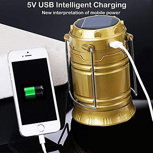 Shreehari Shopper®LED 3 Power Source Solar USB Mobile Charger Lithium Battery Emergency Light Lantern for Travel, Camping (Assorted Colours)