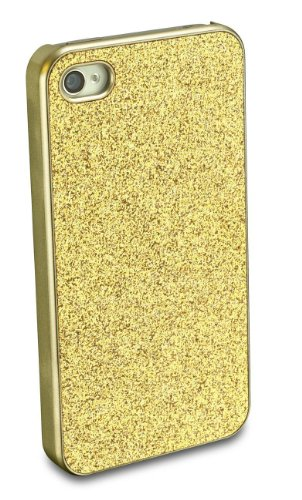 Cellular Line CHANTALCIPHONE4SG Backcover Glitter-Look für Apple iPhone 4S gold