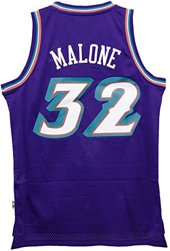 Mens Adult 32 Karl Malone Jersey White Karl Malone Utah Jazz Memorabilia  Amazon ... 2b6621bed