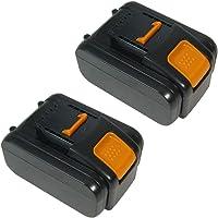 2x Trade-Shop Premium Li-Ion batterij 20V / 4000mAh / 80Wh vervangt Worx WA3528, WA3553.2. WA3551.1 voor Worx WG169E…