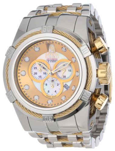 Jason Taylor for Invicta Collection 12952 BOLT Zeus Chronograph Mother-Of-Pearl Dial Stainless Steel - Pearl Collection Chrono