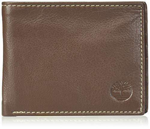 Timberland Mens Wellington RFID Leather Bifold Wallet Trifold Wallet Hybrid