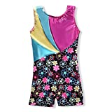 Metallic Leotards for Girls Gymnastics 4t 5t 4-5 Rainbow Gold Hot Pink Aqua Blue