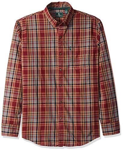 G.H. Bass & Co. Men's Madawaska Trail Long Sleeve Shirt, Tawny Port, Medium from G.H. Bass & Co.