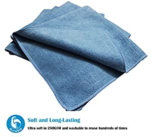 "(8-Pack) 300gsm 16""x16"" Aetinstar Microfiber Cleaning Cloths for Kitchen, Home, Car, Garage - Perfect for Detailing Car, Dusting Furniture, Polishing Windows, Stainless Steel"