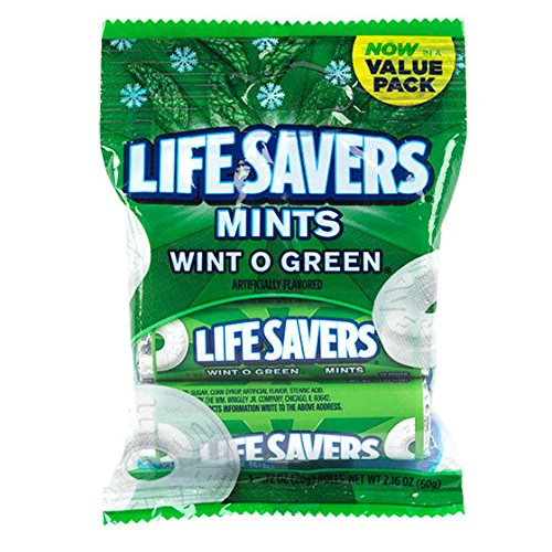 1 Pack of Life Savers in Wint O Green flavor, 3-Roll Per Pack