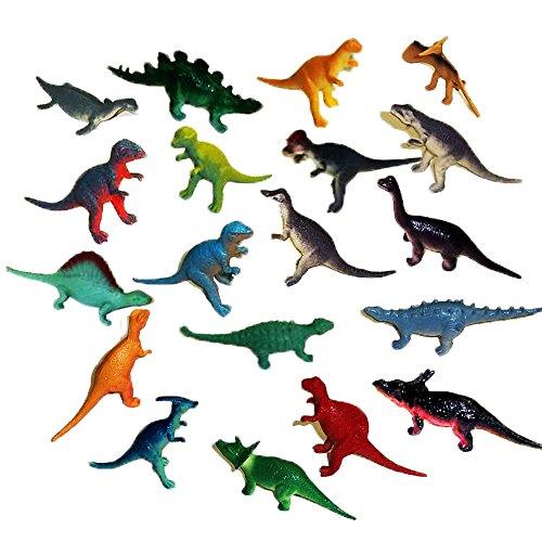 Toy Cubby Miniature Assorted Plastic Vinyl Dinosaur Figures - 72 pcs