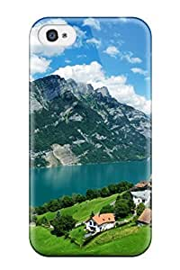 Dana Diedrich Wallace's Shop Hot New Arrival Cover Case With Nice Design For Iphone 4/4s- Mountain Lake 4487663K76250158