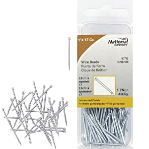 National Manufacturing N278-598 17 Gauge 1 Inch Galvanized Wire Brads 1.75 Oz. Package