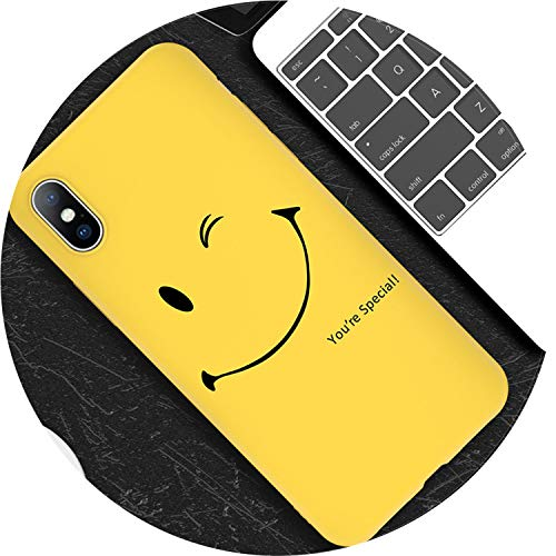 (HANBINGPO Phone Case for iPhone 6 6s 7 8 Plus X XR XS Max 5 5s SE Fashion Cute Cartoon Letter Smiley Face Soft TPU for iPhone Xs,T4,for iPhone XR)
