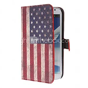 Retro US Flag Style PU Leather Case with Stand and Card Slot for Samsung Galaxy Note 2 N7100