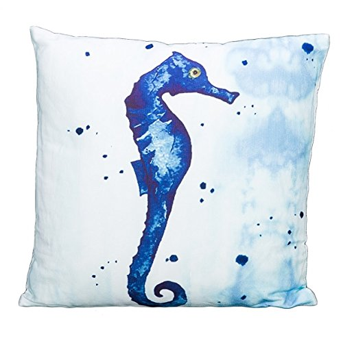 Beachcombers SS-Bcs-03257 Watercolor Seahorse Pillow