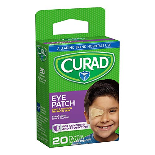 - Curad Eye Patches Regular 20 Each (Pack of 4)
