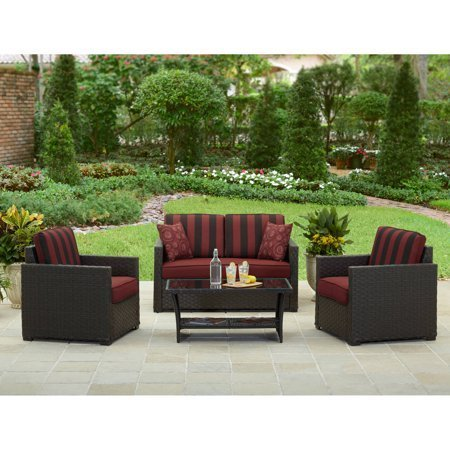 Better Homes and Gardens Rush Valley 4-Piece Outdoor Conversation Set