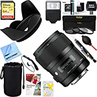 Sigma Art Wide-angle lens 35 mm F/1.4 DG HSM Canon EF (340101) + 64GB Ultimate Filter & Flash Photography Bundle