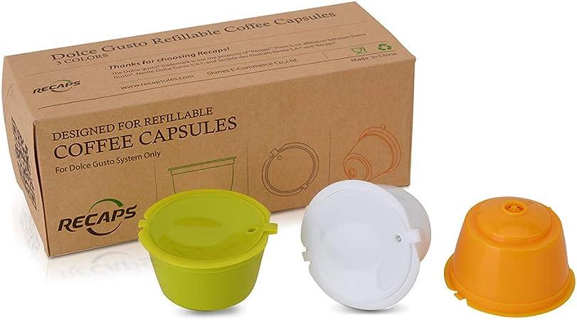 Dolce Gusto Café Capsule 3pcs//pack utiliser 150 fois en plastique capsule rechargeables Reu