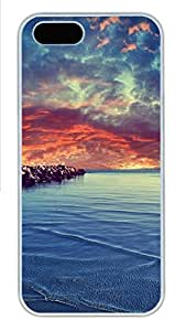 iPhone 5s Case, iPhone 5s Cases - Calm sea PC Polycarbonate Hard Case Back Cover for iPhone 5s¨CWhite