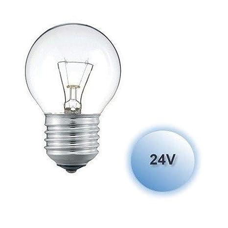 Bombilla esferica 25w 24v E27 caja 10 unidades