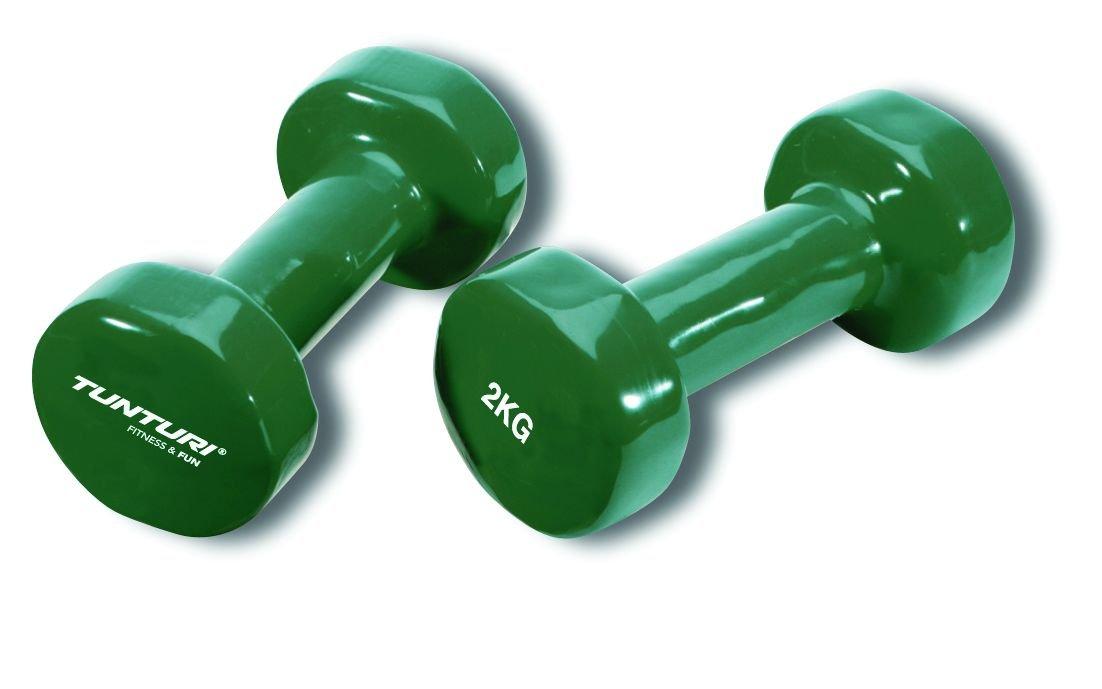 Tunturi 14TUSFU110 Mancuernas, Unisex Adulto, Verde, 2 kg: Amazon.es: Deportes y aire libre