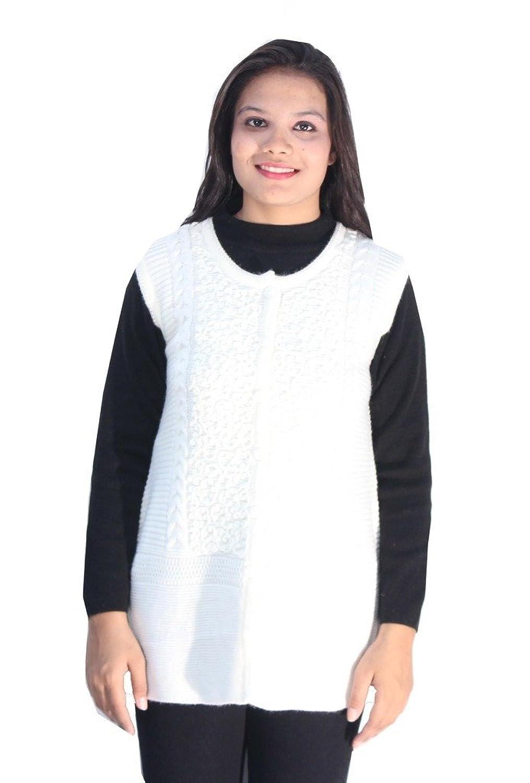 Romano Damen Mantel, Gestreift Weiß Weiß Gr. Large, Weiß - Weiß