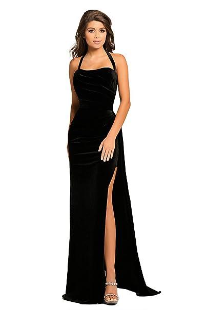 May Story Women Long Prom Party Maxi Dress V-Neck Short Sleeve Off Shoulder Front Slit