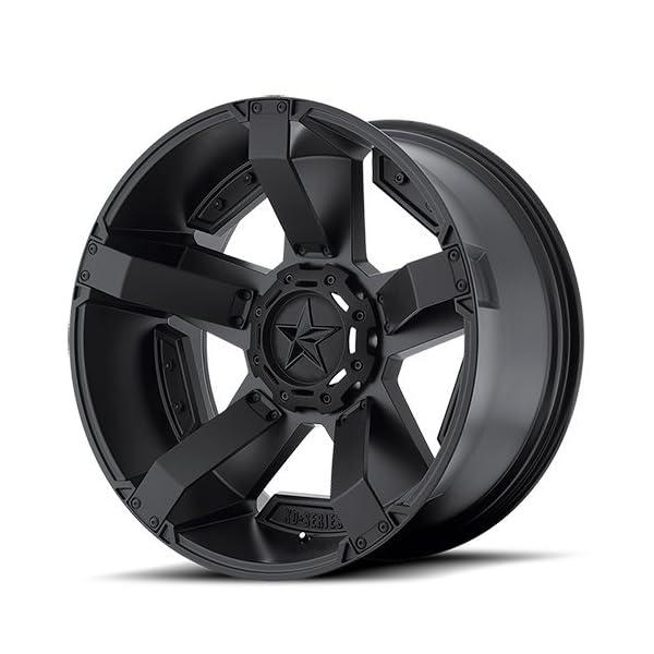 XD-Series-by-KMC-Wheels-XD811-Rockstar-II-Satin-Black-Wheel-With-Accents-20x98x1651mm-18mm-offset