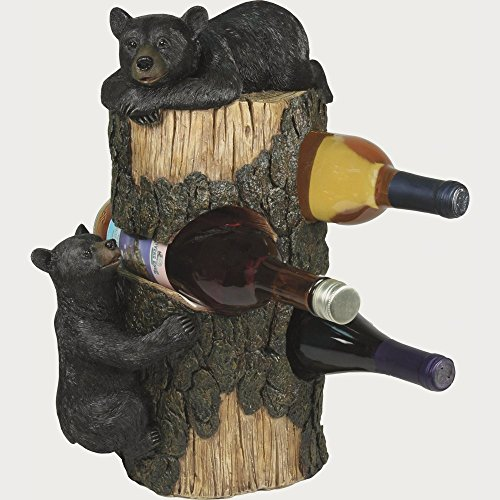 River's Edge Bear 3 Wine Bottle Holder