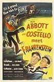 Bud Abbott Lou Costello Meet Frankenstein 11 x 17 Movie Poster - Style E