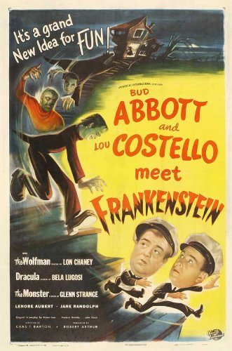 Bud Abbott Lou Costello Meet Frankenstein 27 x 40 Movie Poster - Style E