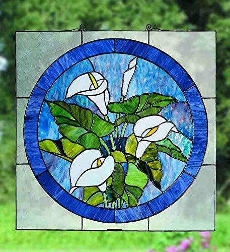Meyda Tiffany 23866 Calla Lily Stained Glass Window, 20
