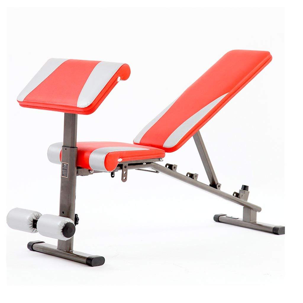 腹筋器具 ダンベルベンチフィットネス折りたたみチェアの減量ベンチ腹筋のボードは、ベンチを座って (Color : Red, Size : 150 * 49 * 46cm) 150*49*46cm Red B07HD7LBJ1