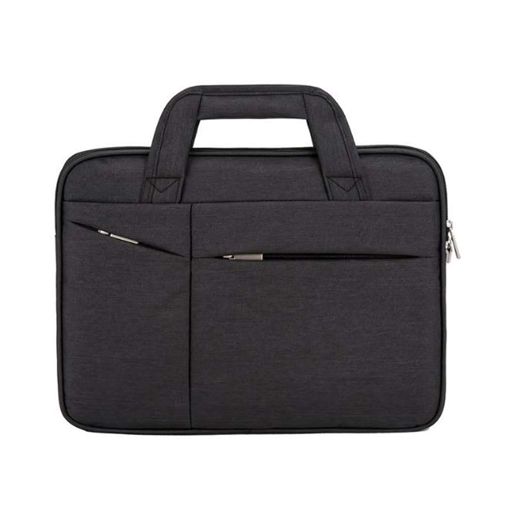 WL Laptop and Tablet Bag Mens Business Casual Laptop Bag Canvas Polyester Splash-Proof Briefcase 15.6 Inch