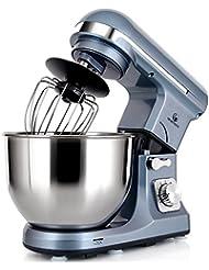 MURENKING Professional Stand Mixer MK37 500W 5-Qt Bowl 6-Speed Tilt-Head Food Electric Mixer Kitchen Machine,Plastic (Silver Blue)