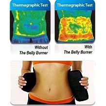 "SlimHot? Belly Burner Belt, Hot Slimming Body Waist, Tummy Slimmer Belt, Trim Shaper, Tummy Tuck, Weight Loss, Warm Belly and Back Support, Adjustable Design, Fits Up to 35"" Waist Size"
