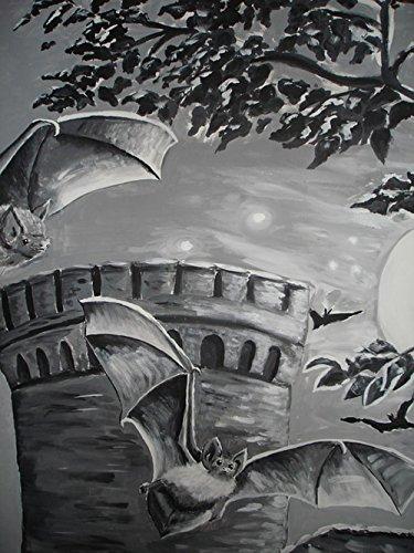 LAMINATED 24x32 inches POSTER: Bat Gothic Mystical Mysterious Fantasy The Witch Halloween Vampire Dark Black Beautiful Gloomy Horror Fairytale Sexy Jewellery Vault Magic Night Bite Weird -