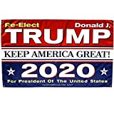 Kecho Donald Trump Flag for President 2020 Keep America Great Flag 3x5 Feet with Grommets- Vivid Color and UV Fade Resistant