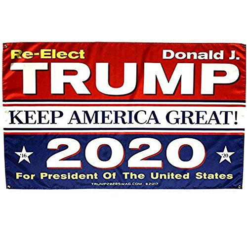 Kecho Donald Trump Flag for President 2020 Keep America Grea