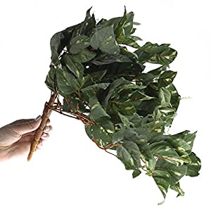 Factory Direct Craft Group of 3 Cascading Artificial Flocked Pothos Ivy Vine Bush for Home Decor, and Displaying 3