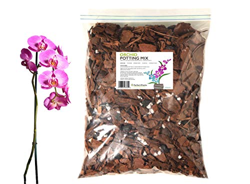 Organic Orchid Potting Mix by Perfect Plants - 8 Quarts Special Blend for Proper Root Development on All Orchid Plant Types 8 Quart Orchid Mix
