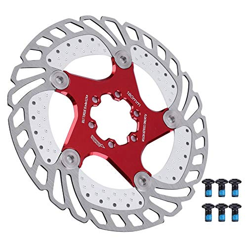 VGEBY1 Bike Cooling Rotor, Stainless Steel Bicycle Hydraulic Disc Brake Rotor Cooling Floating Rotor Bike Accessory(180mm)